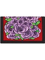Portefeuille avec ripper Roses lilas Rouge 13x8cm