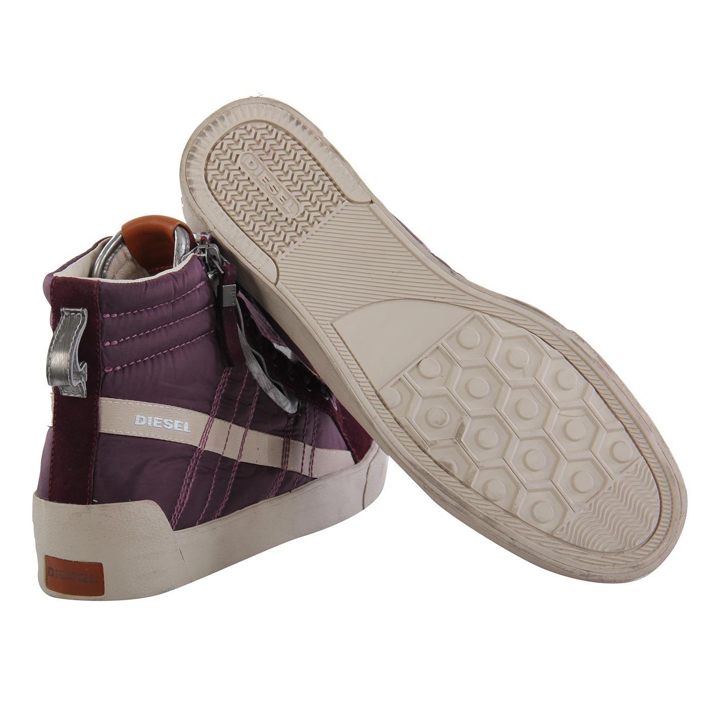 52abd2b8233c DIESEL Herren Teil Leder High Sneaker Schuhe D-String Plus Purple G01169  Größe 43  Amazon.de  Schuhe   Handtaschen