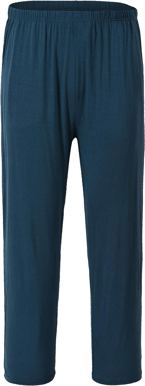 JINSHI Homme Bas de Pyjama Pantalon Long Doux Modal V/êtements de Nuit /Élastique avec Poches