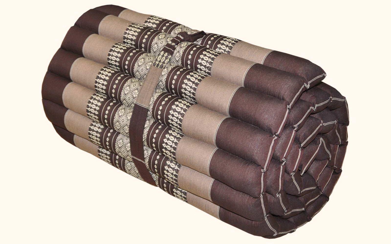 Thai mattress small size (55/180), brown, relaxation, beach cushion, pool, meditation, yoga (82413)