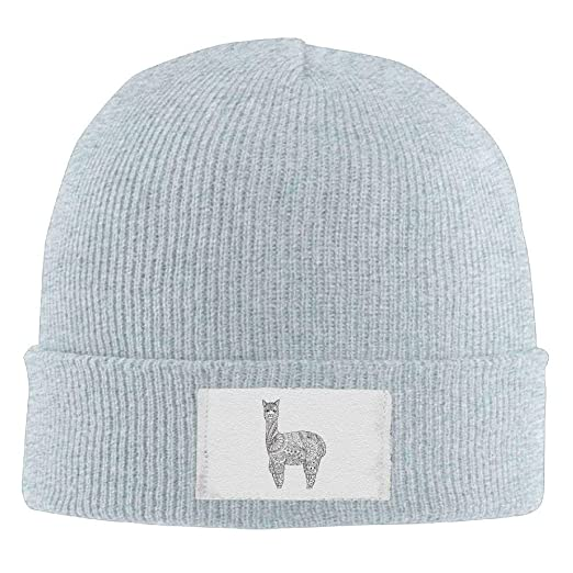 117b8d0ffffe4 Beanie Hats Alpaca Art Painting Printed Hedging Cap Slouchy Winter Warm  Skull Caps for Men Womnens at Amazon Men s Clothing store