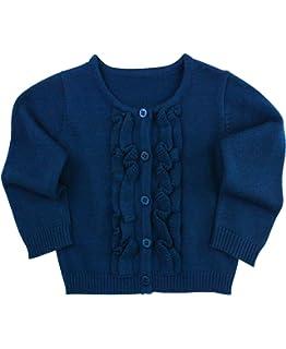 Amazon.com  Mayoral Baby Girls Dark Navy Blue Shrug - Knitted Short ... 5bac3ab2d