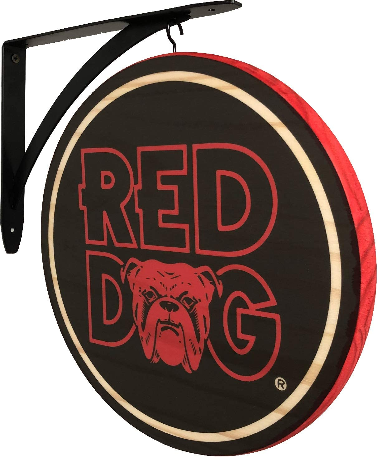 Amazon Com Red Dog Beer 2 Sided Pub Sign Home Kitchen