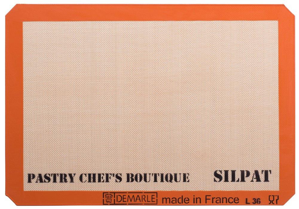 Sasa Demarle Silpat Premium Non-Stick Silicone Baking Mat, Big Sheet Pan Size (2/3 Sheet Pan) for a 15''x 21'' Sheet Pan - 13.58''x 19.5'' - by Pastry Chef's Boutique