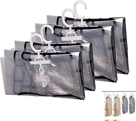 Vacuum Seal Hanging Suit Bags Set Of 4 Save Storage Space New