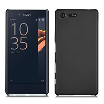 save off 6c605 64f65 IVSO Sony Xperia X Compact Case - Slim Hard Shell Case for Sony Xperia X  Compact 4.6 inch Smartphone (Slim Fit Series - Black)