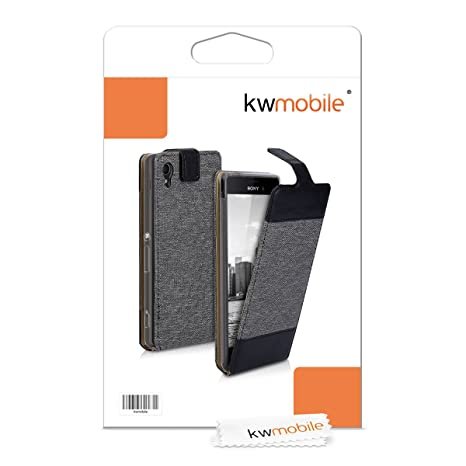 Amazon.com: kwmobile Vertical Flip Case for Sony Xperia M4 ...