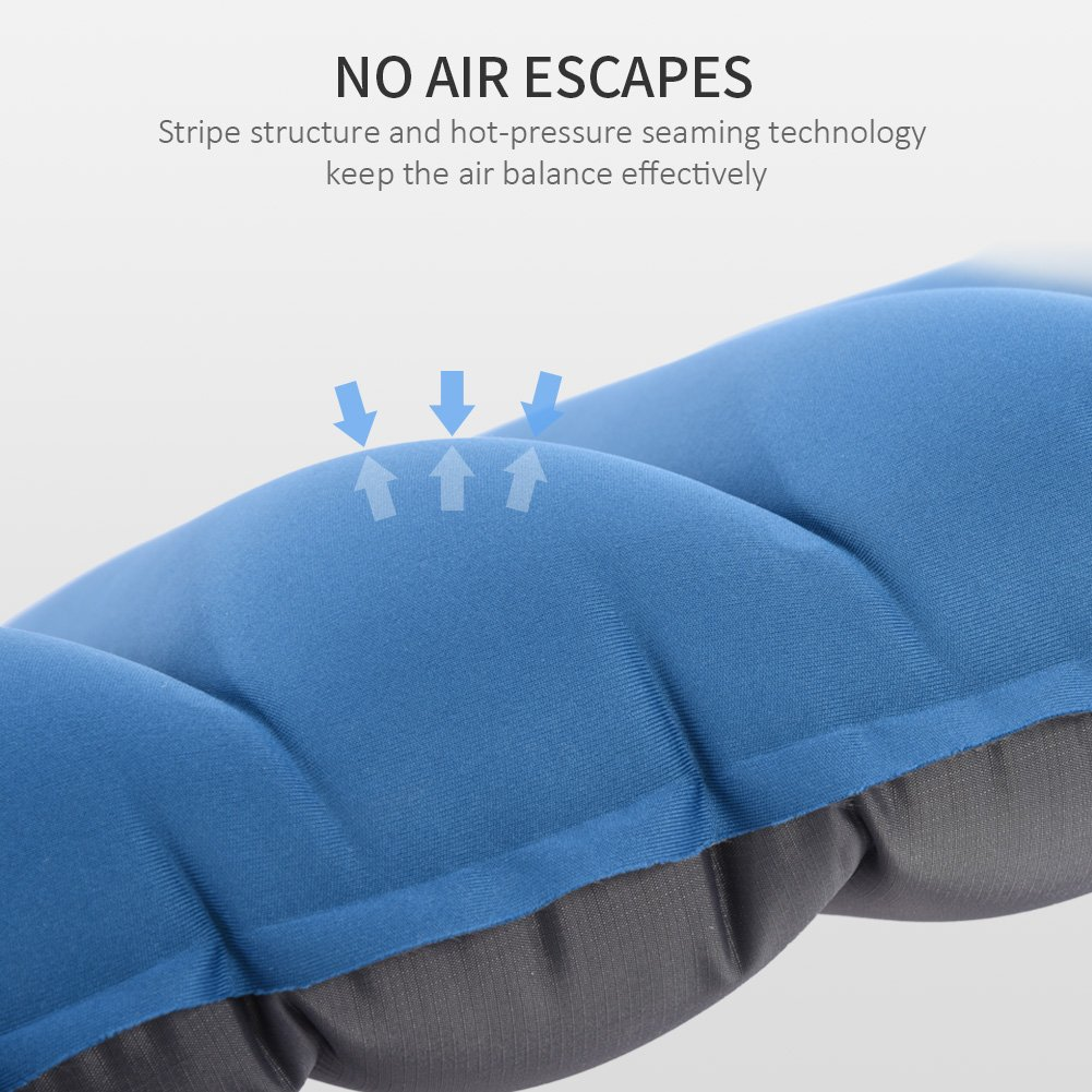 Doact Ultralight Inflatable Camping Sleeping Mat with Pillow for Backpacking Hiking Traveling No Leakage Air Pad for Sleep Comfortably Sleeping Pad One Size for Adults and Children