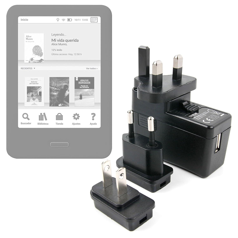 DURAGADGET Cargador con Enchufe Europeo para Libro electrónico BQ ...