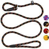Coolrunner Durable Dog Slip Rope Leash, 5 FT Dog Training Leash, Strong Slip Lead, Standard Adjustable Pet Slipknot…