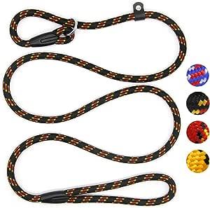 Coolrunner Durable Dog Slip Rope Leash, 5 FT Dog Training Leash, Strong Slip Lead, Standard Adjustable Pet Slipknot Leash for Small Medium Dogs(10-80 lb)