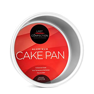 "Last Confection 6"" x 3"" Deep Round Aluminum Cake Pan - Professional Bakeware"