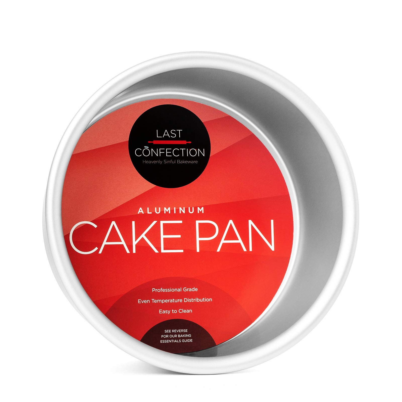 Last Confection 6'' x 3'' Deep Round Aluminum Cake Pan - Professional Bakeware