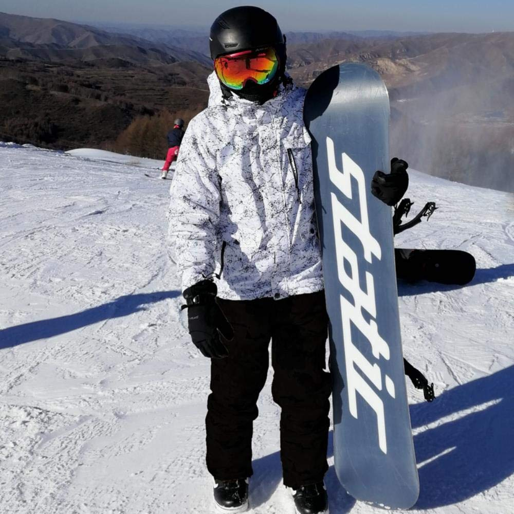 JJZZ Abbigliamento da sci Addensare Caldo Uomo Donna Coppia Tuta da Sci Invernale Antivento Impermeabili Tute da Sci Giacca da Snowboard Maschile Pantaloni Tuta Plus Size