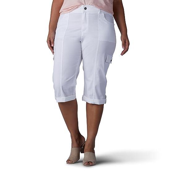 f5873fc2c31d Lee Pantalones Capri Holgados para Mujer, Talla Grande: Amazon.com ...