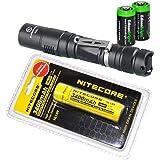 Sunwayman P25C 1000 Lumen CREE LED tactical flashlight with Nitecore NL189 3400mAh rechargeable 18650 Battery and 2 X EdisonBright CR123A Lithium Batteries Bundle