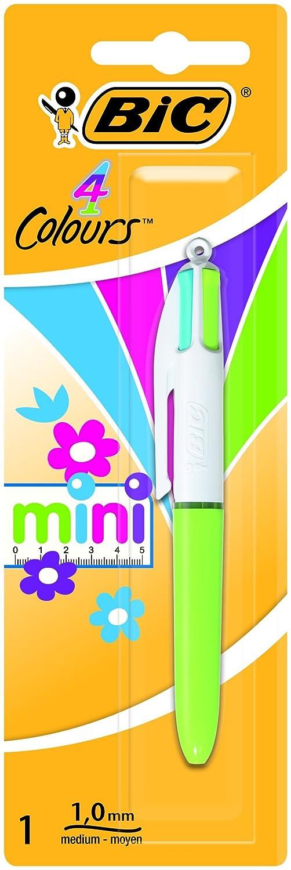Punta media 1 mm Bic 4 Colours Blu Original e Fun Penna a Scatto 4 Colori di Inchiostro