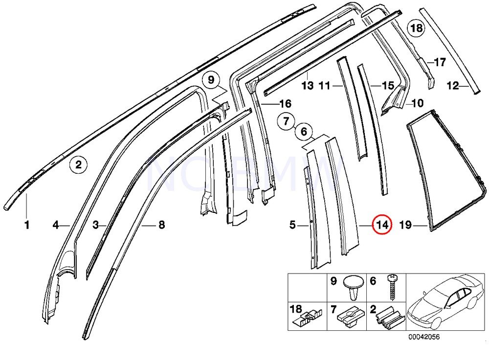 Amazon Com Bmw Genuine Column B Rear Left Molding Automotive