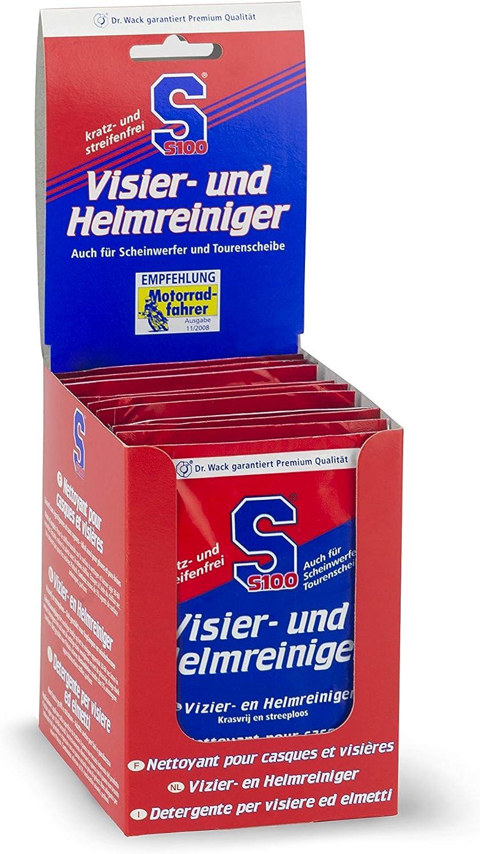 S 100 Visier Und Helmreiniger Tuch Set 10 Stück Auto