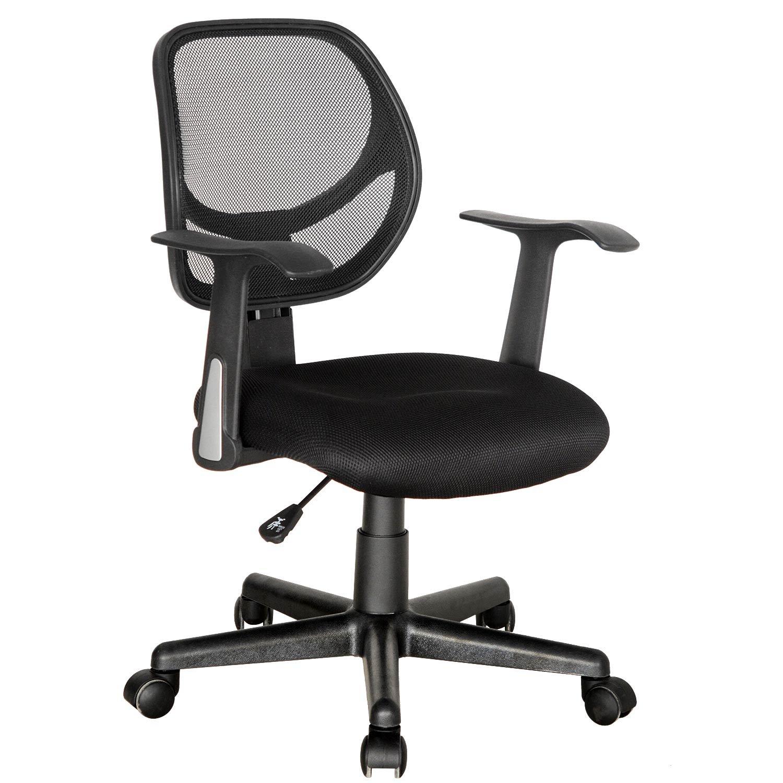 Modrine Mid-back Mesh Chair,Adjustable Swivel office Task Desk Chair w/Arms,black(Black3)