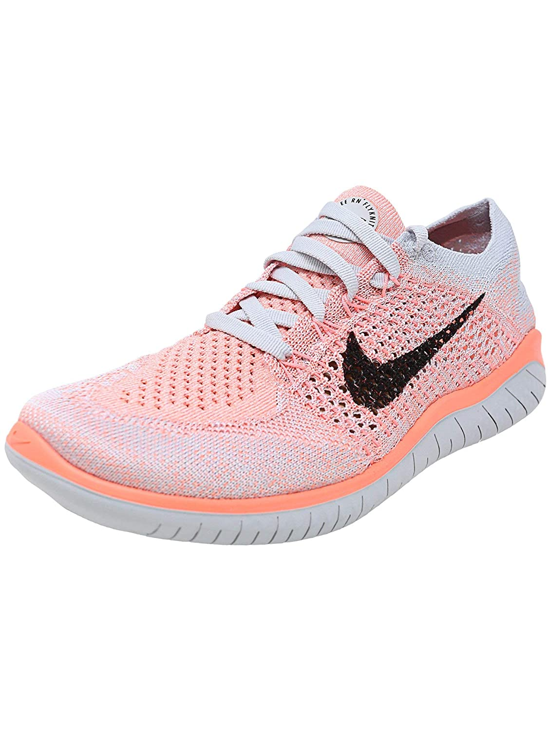 best loved faf76 ce4d3 Nike Womens Free Rn Flyknit 2018 Low Top Lace Up Running, Orange, Size 7.5