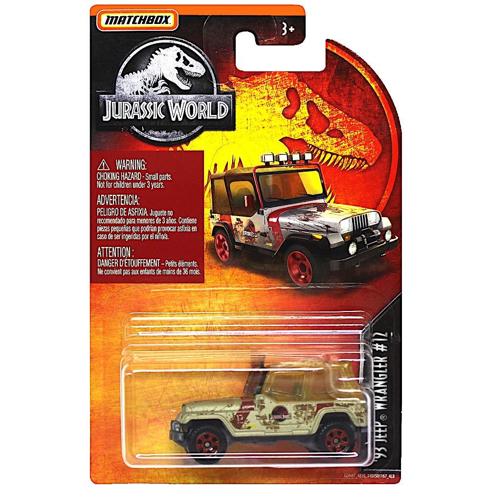 Jurassic World Diecast 93 Jeep Wrangler #12 1:64 Scale 2019
