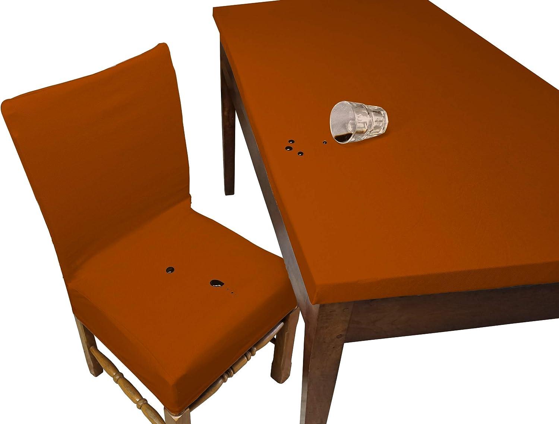 2 pi/èces Orange Housse de Chaise Imperm/éable Banzaii Fabriqu/é en Italie Housse Assise Chaise sans Dossier