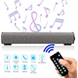 Sound Bar Bluetooth 4.2 Wireless & Wired 16.9 Inch Soundbar Surround Sound Home Theater Built-in Subwoofers for PC/Phones/Tablets