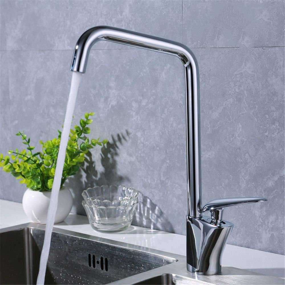 AQMMi Bathroom Sink Faucet Basin Mixer Tap Brass Chorme Plated Hot and Cold Water Single Lever Basin Sink Tap Bathroom Bar Faucet