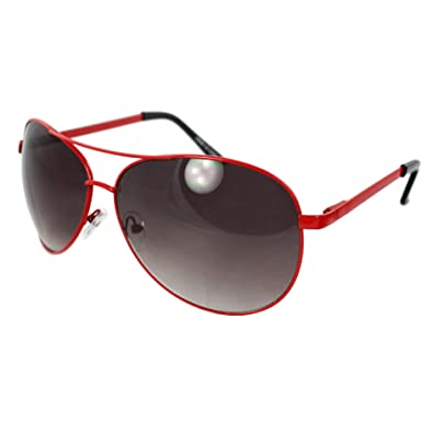 438b70d495 Image Unavailable. Image not available for. Color  MLC xflame Eyewear Pilot  Fashion Aviator Sunglasses Red Frame ...