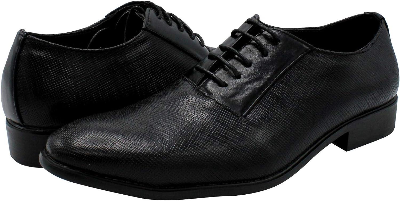 Marco Vitale Mens Lace Up Dress Shoe,Black,9