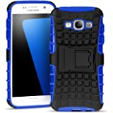 Samsung Galaxy Grand Prime Outdoor Hülle Case in Blau Extra Schutz, Robuste Galaxy Grand Prime Schutzhülle Handyhülle Cover Silikonhülle Rückschale