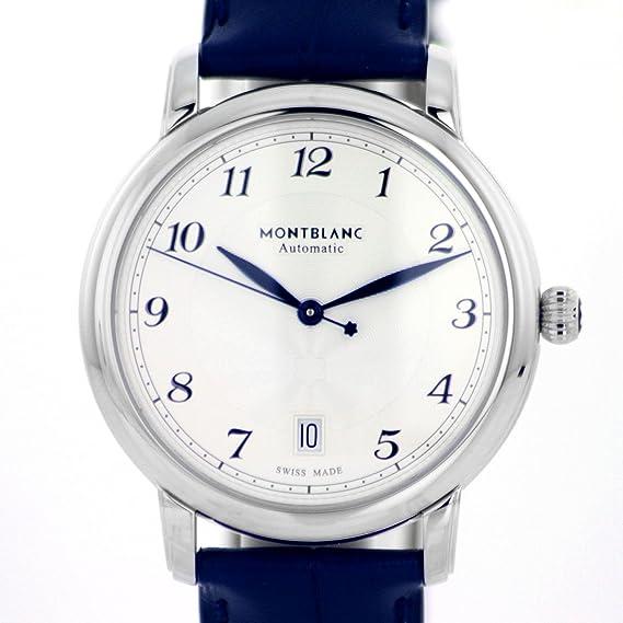 Reloj Montblanc Star Legacy automático Date 39 mm Correa Azul cocodrilo: Amazon.es: Relojes