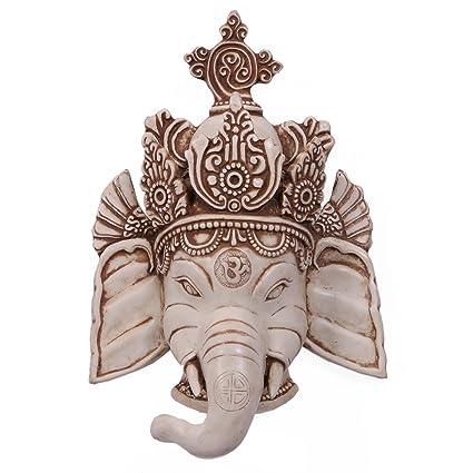"""10 """"Gran Elefante Ganesha colgar en la pared Dios pared máscara Escultura Arte Decoración"""