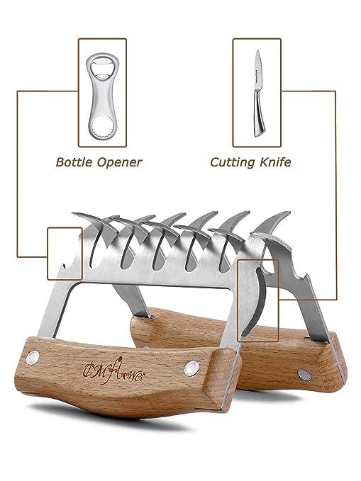 Shine Garras de Oso para Barbacoa Carne Shredder Carne Garra/Pollo/Ternera/Turquía