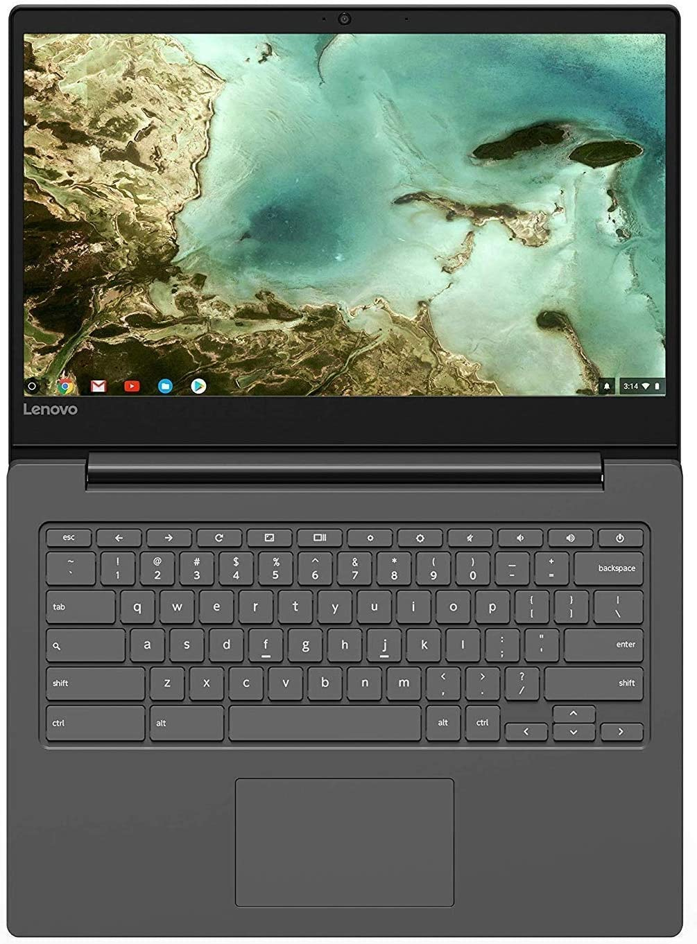 "2019 Newest Lenovo 14"" Thin and Light Chromebook: 14"" FHD (1920 x 1080) Anti-Glare Display, MediaTek MTK 8173C 1.7GHz, 4GB RAM, 64GB eMMC, WiFi, Bluetooth, HD Webcam, HDMI, USB-C, Chrome OS"