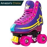 Bliss Rollerskates Mädchen Rollschuhe Damen - Indoor Outdoor Roller Skates Größe 33-40 Rollschuh Rockstar Edition