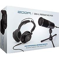 Zoom ZDM-1 Podcast Mic Pack, Podcast, micrófono dinámico, Auriculares, trípode, Parabrisas, Cable XLR, para grabación de…