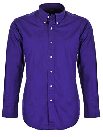 check out 876f4 54c33 Ralph Lauren Herren Hemd, Lila, Sarnac Purple, Custom Fit ...