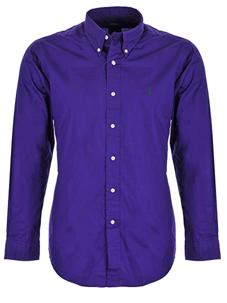 99788656f Ralph Lauren Camisa para Hombre de Piel Color Morado  Amazon.es  Ropa y  accesorios
