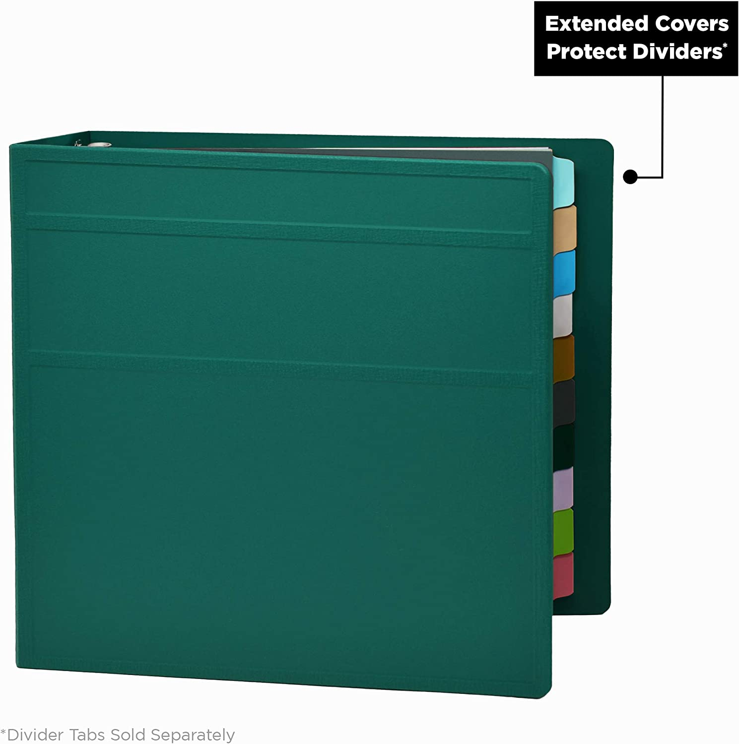 Carstens 3 Inch Heavy Duty 3-Ring Binder Brick Red Side Opening