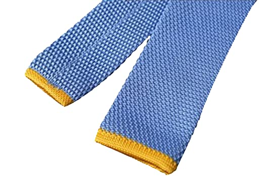 Oxford Collection Corbata Tricot azul 100% seda: Amazon.es: Ropa y ...