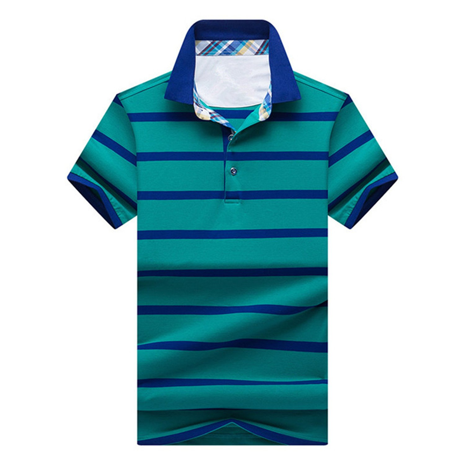 Tyler Morrison Spring Summer New Mens Short Sleeve Polo Shirt Business Casual Cotton Stripe Polo Shirt Tops