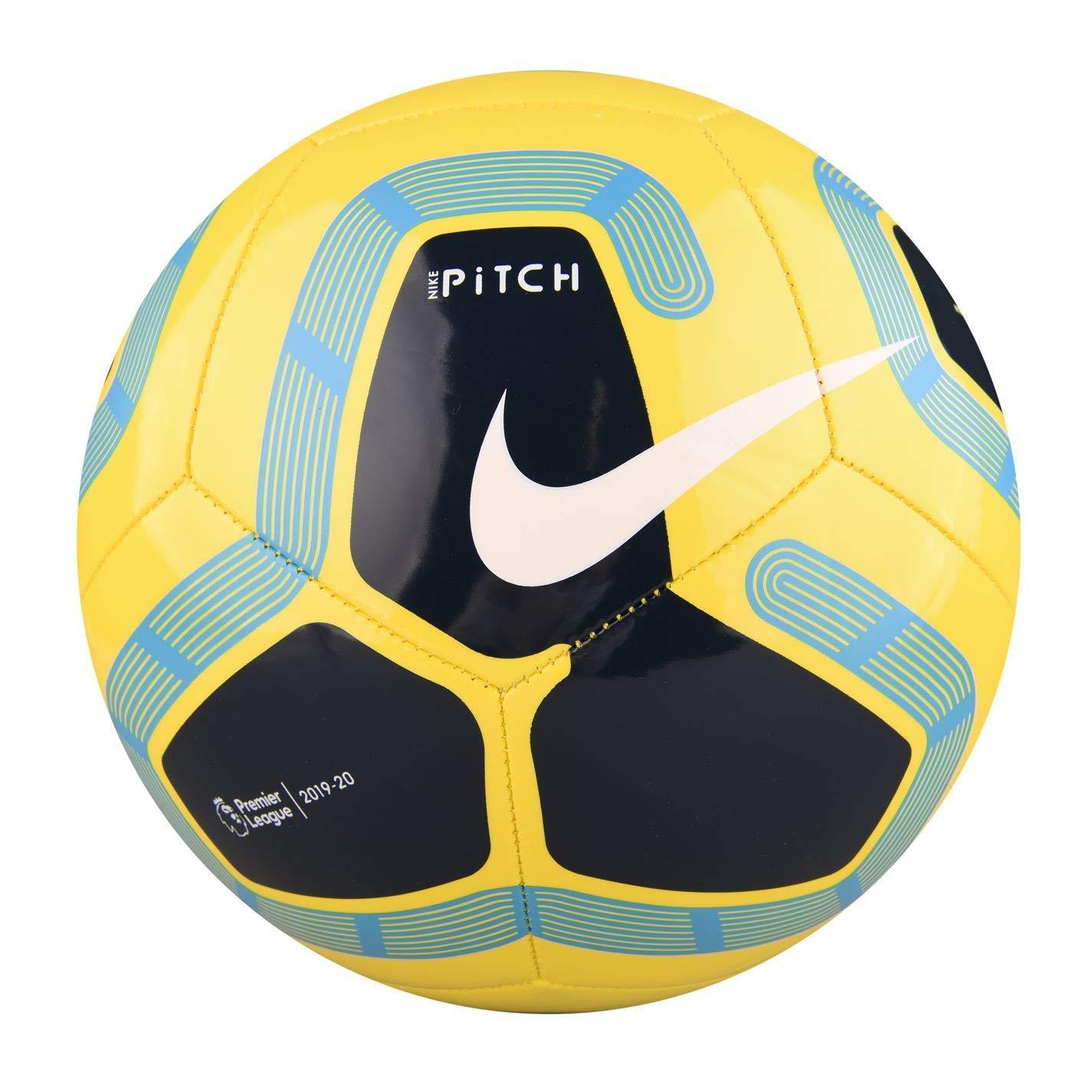 Nike Pitch Premier League Fútbol 2019-2020, Amarillo/Azul, Talla 5 ...