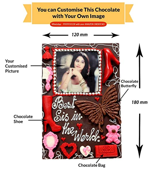 Edible Gift Ideas Best Chocolate Rakhi Gift For Sister Personalized Item Rk004 Amazon In Grocery Gourmet Foods
