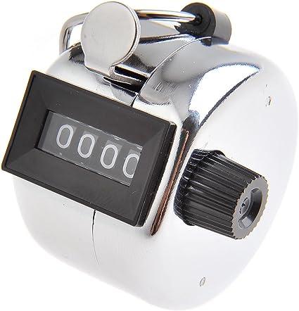 Imagen deTetra Contador mecánico / contador de mano / contador de palanca de metal, 4 dígitos, Mod. (5202 DE)