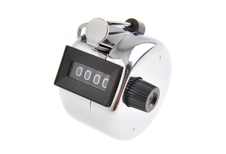 Tetra Contador mecánico / contador de mano / contador de palanca de metal, 4 dígitos, Mod. (5202 DE)