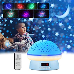 Best Toys Gifts for 2 3 4 5 6 7 8 Year Old Boys , GoLine Star Projector for Kids, Christmas Birthday Gifts Ideas, Starry Night Light Projector with Remote & Timer(Blue)
