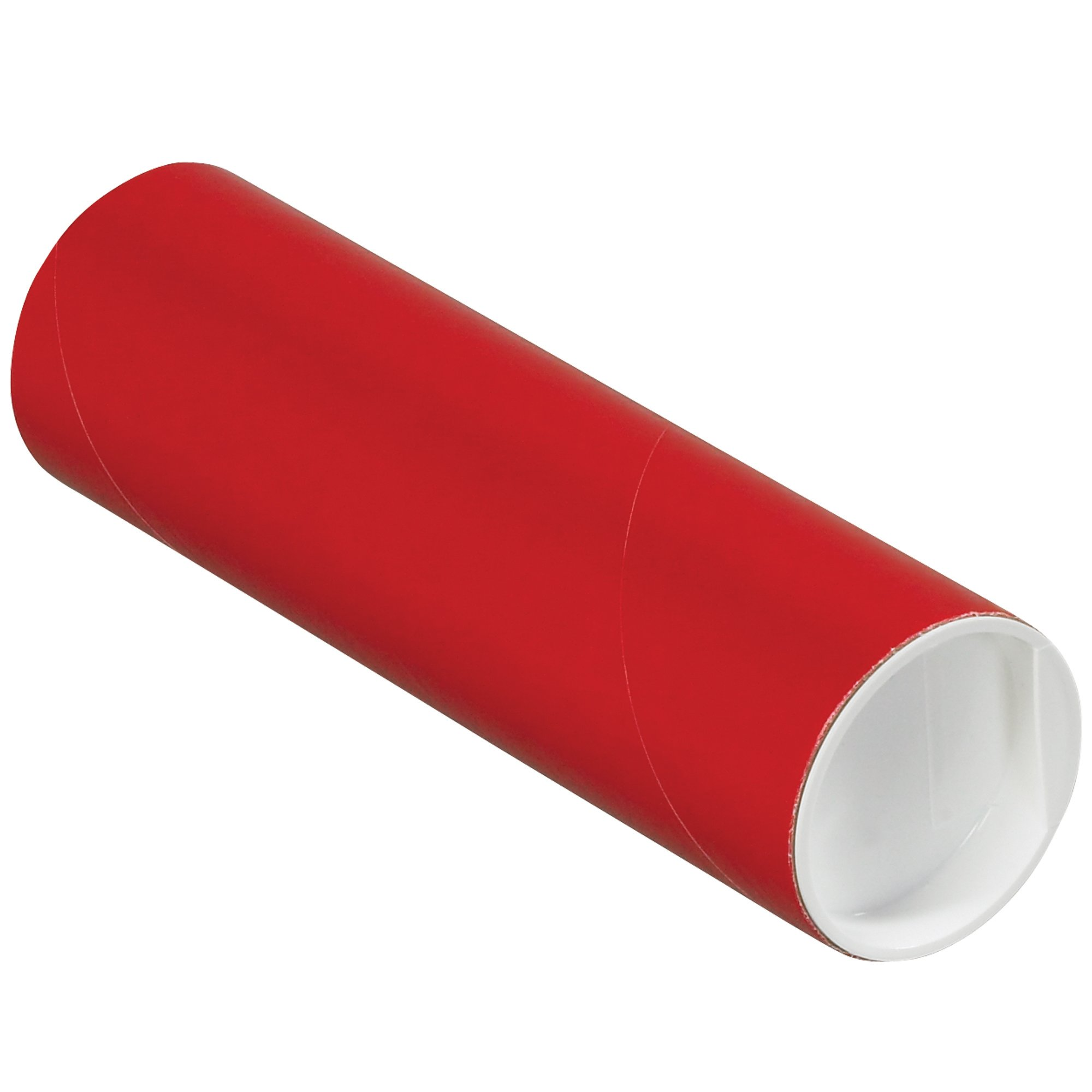 Mailing Tubes with Caps, 2'' x 6'', Red, 50/Case by Great Box Supply
