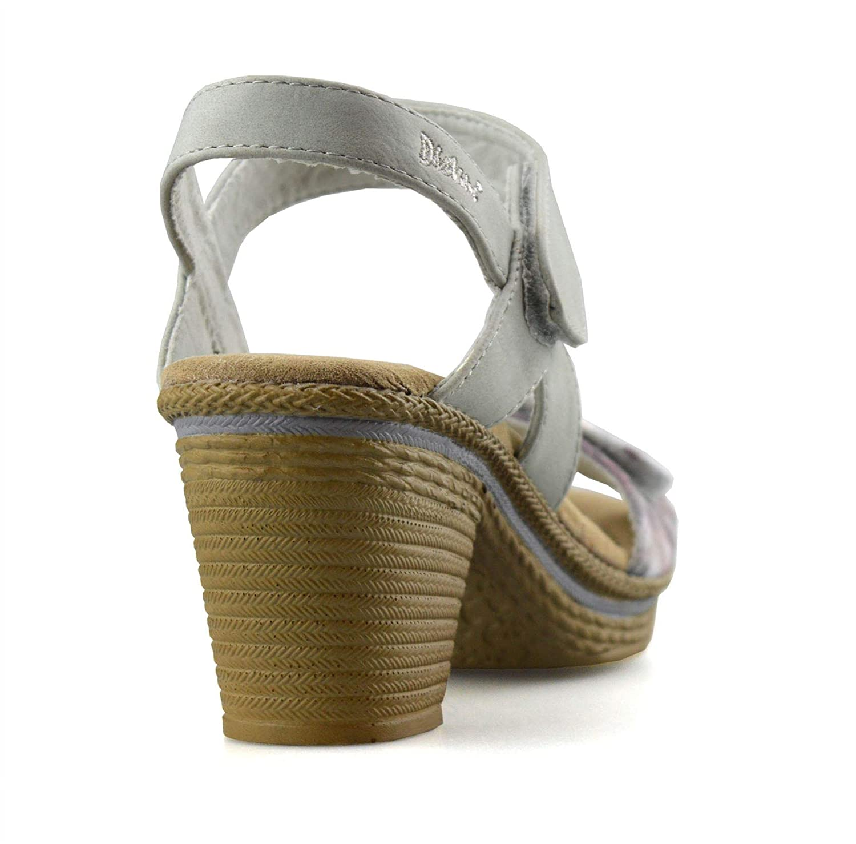 Ladies Womens Memory Foam Mid Block Heel Casual Comfort Summer Sandals Shoes